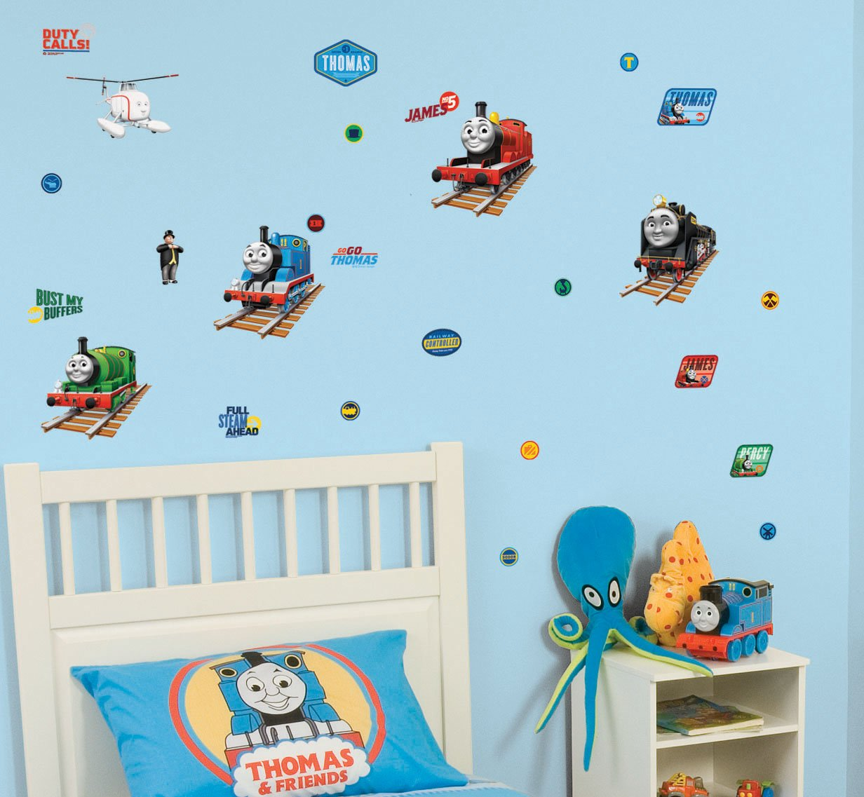 fun4walls cgi thomas and friends stikarounds repositionable wall fun4walls cgi thomas and friends stikarounds repositionable wall stickers amazon co uk kitchen home