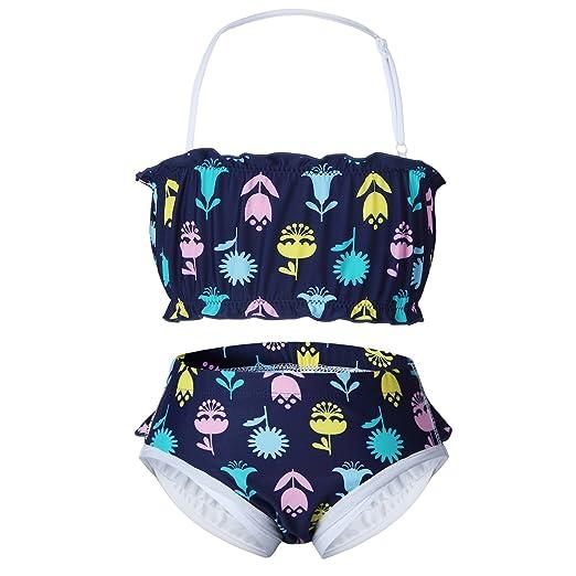 40dd1a3802 vivobiniya Baby Girl Two-Piece Swimsuits Swimsuits Diaper 6m-2y