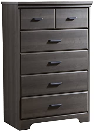 South Shore Versa 5 Drawer Chest, Gray Maple