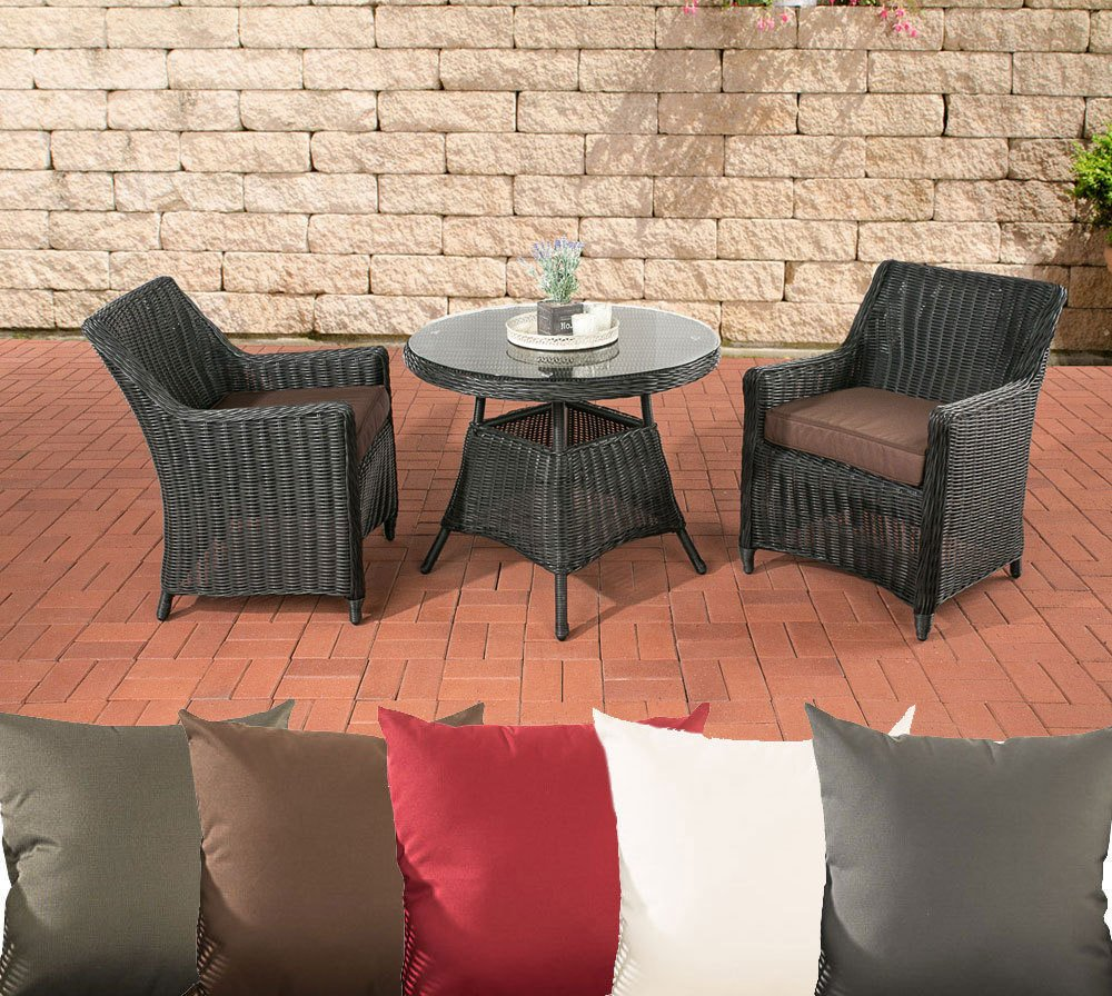 clp poly rattan balkon set ambato 5 mm rund geflecht ben tigte stellfl che nur ca 3 qm rattan. Black Bedroom Furniture Sets. Home Design Ideas