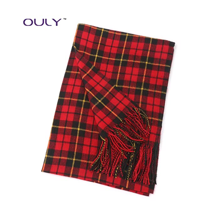 Christmas Scarf.Ouly Red Plaid Christmas Scarves Men S Scarf Women S Scarf