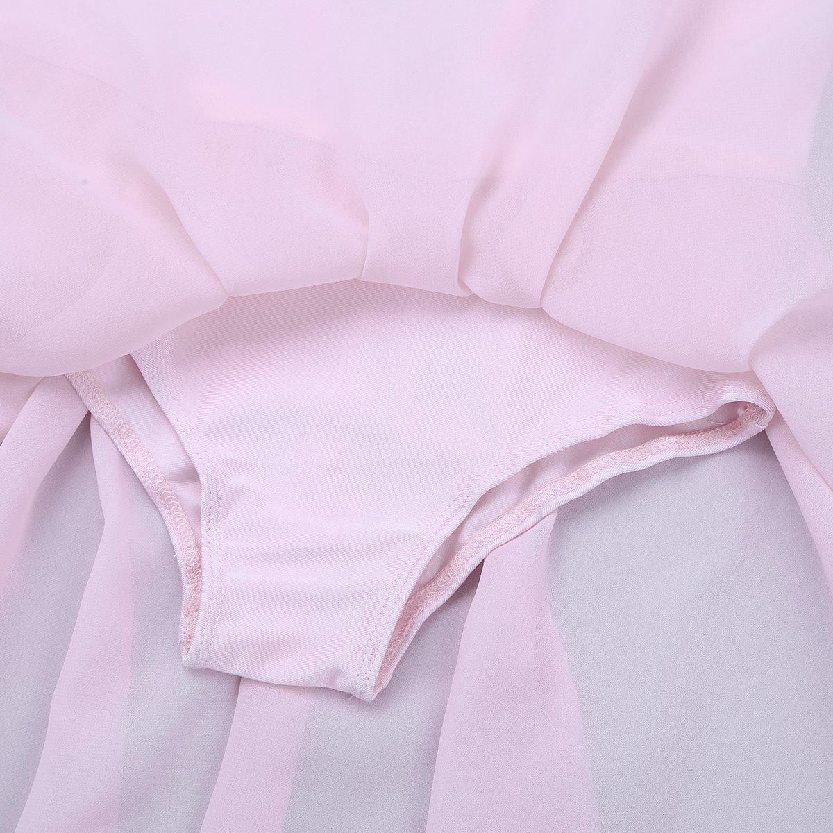 iixpin Maillot Vestido de Ballet Danza para Ni/ñas Chicas Leotardo de Gimnasia con Falda Gasa Body de Ballet Fiesta Tut/ú Princesa Elegante Traje de Danza Competici/ón 3-14 A/ños