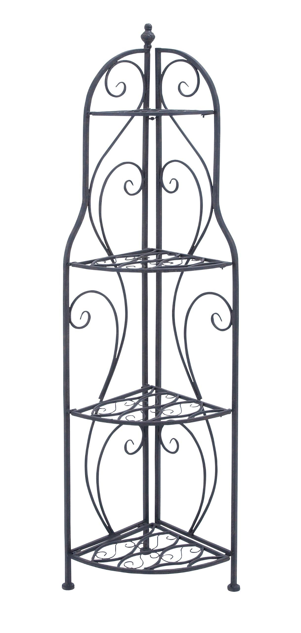 Deco 79 Metal Corner Rack, 60-Inch by 17-Inch