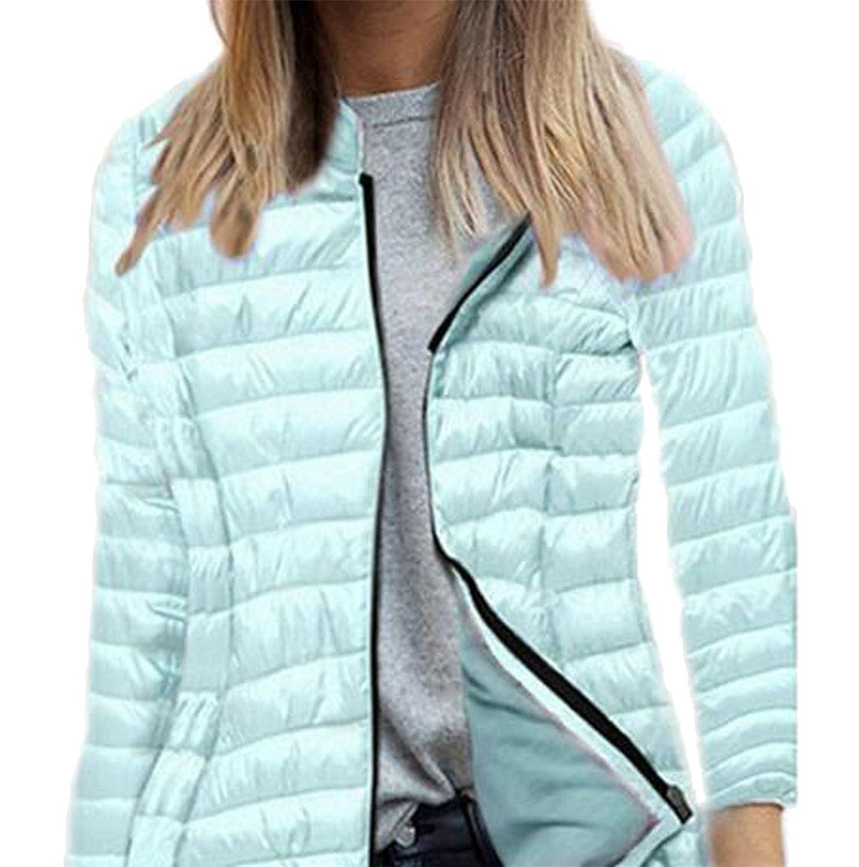 Cheap Fulok Womens Outdoor Full Zip Lightweight Warm Slim Fit Puffer Down Jacket supplier