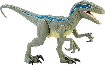 Mattel Jurassic World Dino Rivals SUPER COLOSSAL VELOCIRAPTOR BLUE NEW IN STOCK