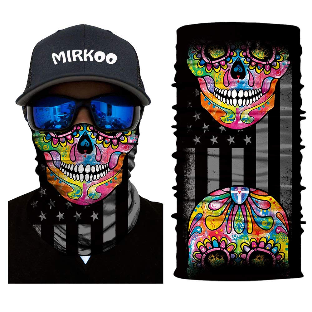 OCAMO-010 Windproof Dust-proof UV Protection Bicycle Bike Motorcycle Face Mask for Cycling Hiking Camping Climbing Fishing MIRKOO 3D Premium Breathable Seamless Tube Camouflage Half Face Mask