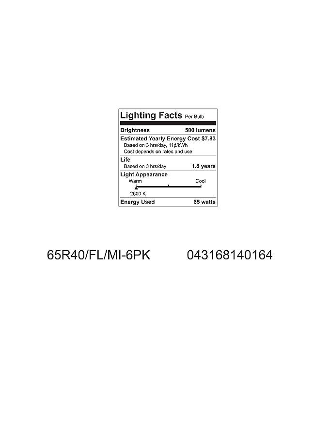 GE Lighting 14016 65-Watt 580-Lumen BR40 Soft White Flood Light Bulb, 1-Pack - Incandescent Bulbs - Amazon.com