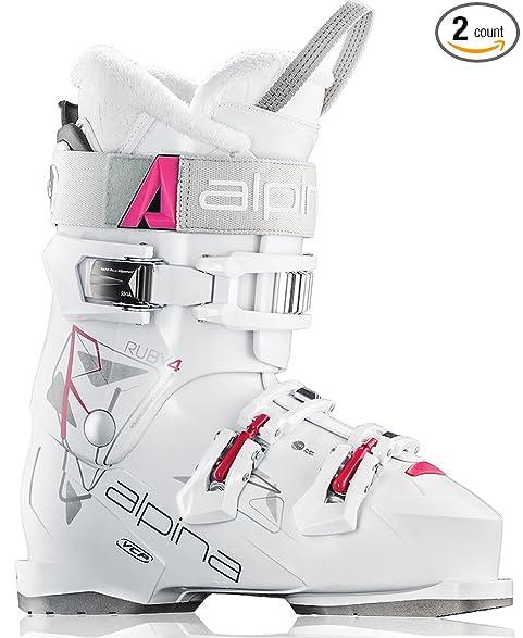 Amazon.com : Alpina Ruby 4 Ladies Ski Boots White 2016 (260 (8.5 ...