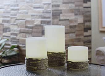 3 Piece LED Flameless Decorative Candle Set with Remote