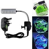 UEETEK Aquarium Fish Tank Clip on Light Lighting Flexible 24-LED