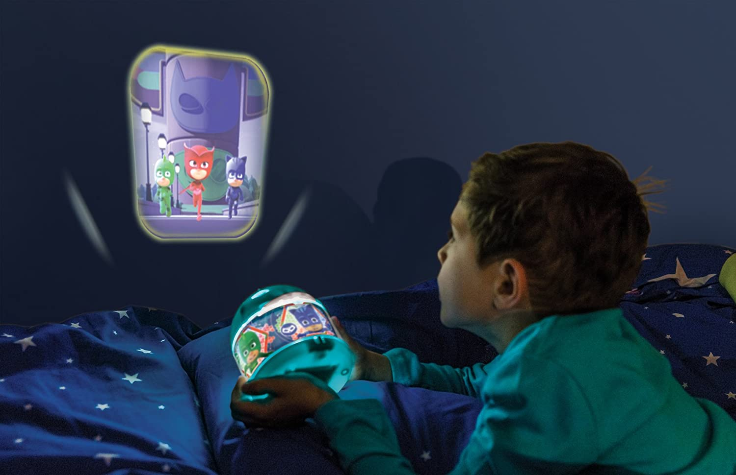 PJ Masks - Proyector de luz, acrílico, color turquesa: Amazon.es ...