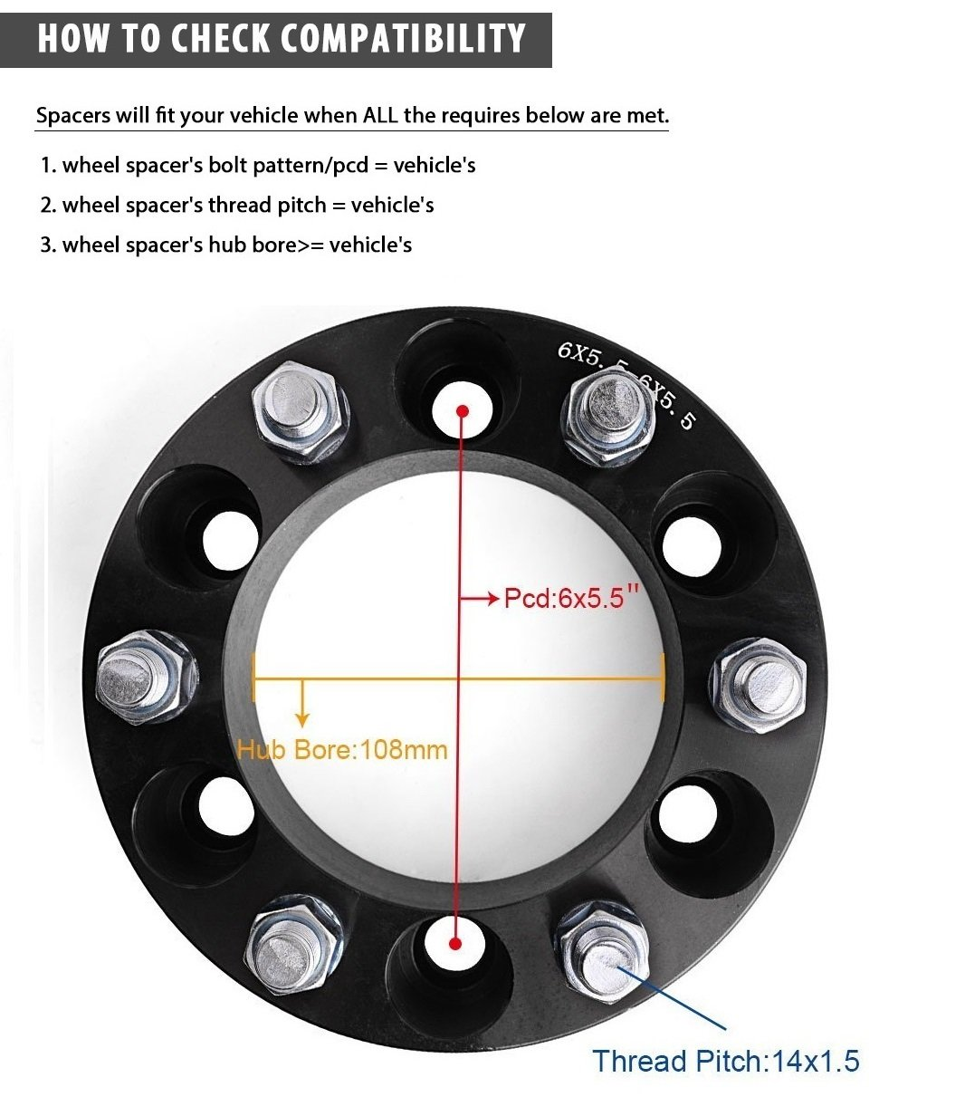 All Chevy 95 chevy 1500 bolt pattern : Amazon.com: Wheel Spacers, YITAMOTOR 4pcs 6 Lug Wheel Spacers 6x5 ...