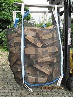transportieren 5 x Hochwertiger Big Bag f/ür Holz mit Sternenboden * speziell f/ür Brennholz * Woodbag Brennholzsack * 100x100x120cm * voll Netzgittergewebe * Holz trocknen Holzbag