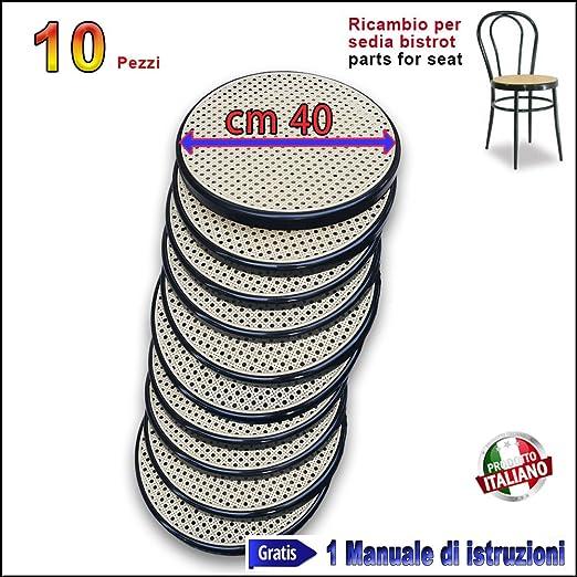 BistrotBianco Ricambio Sedia Thonet in Metallo Bistrot FACILCASA Seduta Rotonda