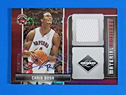 b5239e91d3c Amazon.com: 2009-10 Panini Material Monikers Chris Bosh Jersey Auto ...
