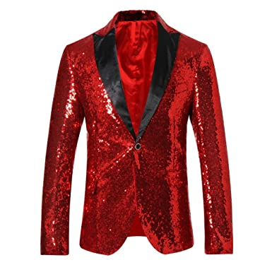 cloudstyle men s sequins blazer slim fit sport coat jacket party