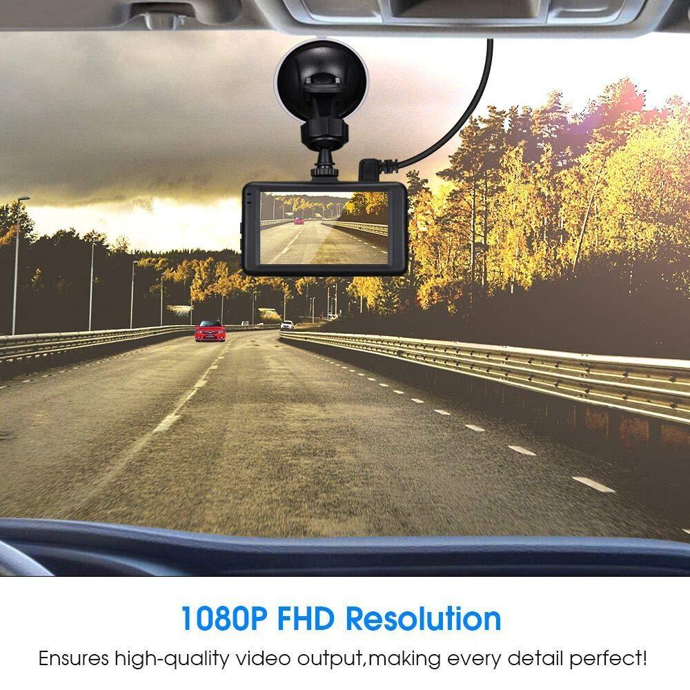 Loop Recording Night Vision Dash Cam YonRui Full HD 1080P Car Camera 3.0 Screen Dashboard Camera Car Recorder with G-Sensor Motion Detection WDR Parking Monitor YonRui Dash Cam 5558992189