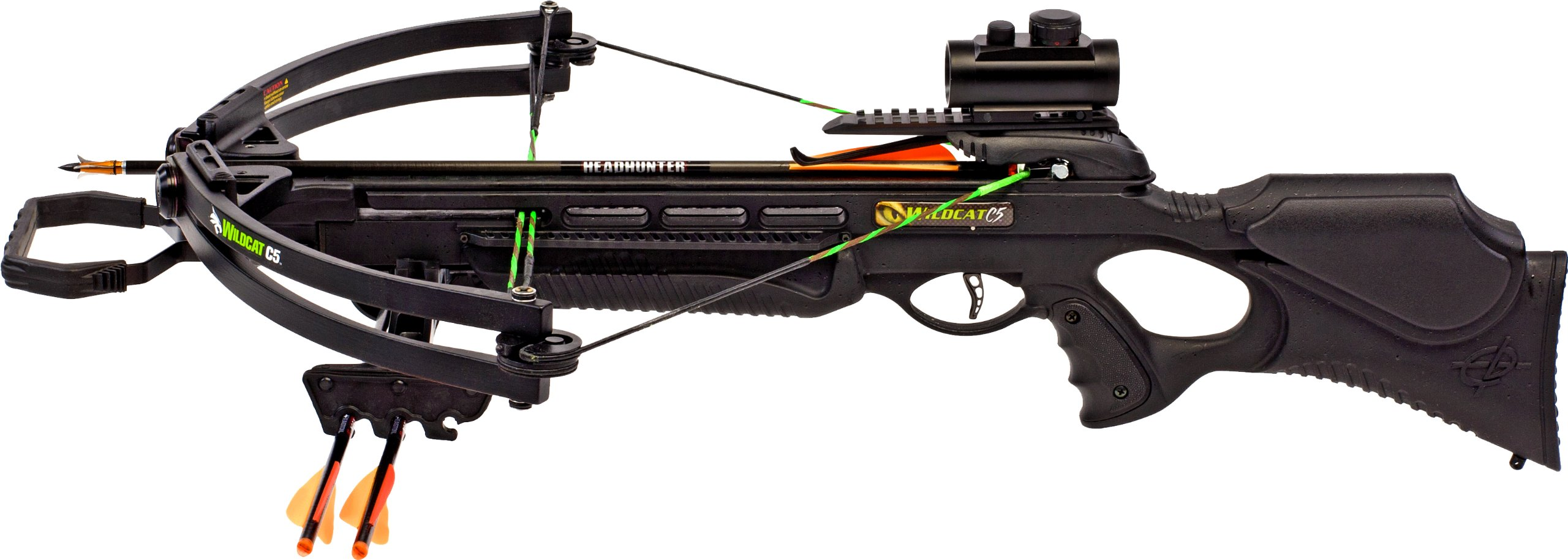 Barnett Wildcat C5 Black Crossbow Package (Quiver, 3 - 20-Inch Arrows and Premium Red Dot Sight) by Barnett (Image #2)