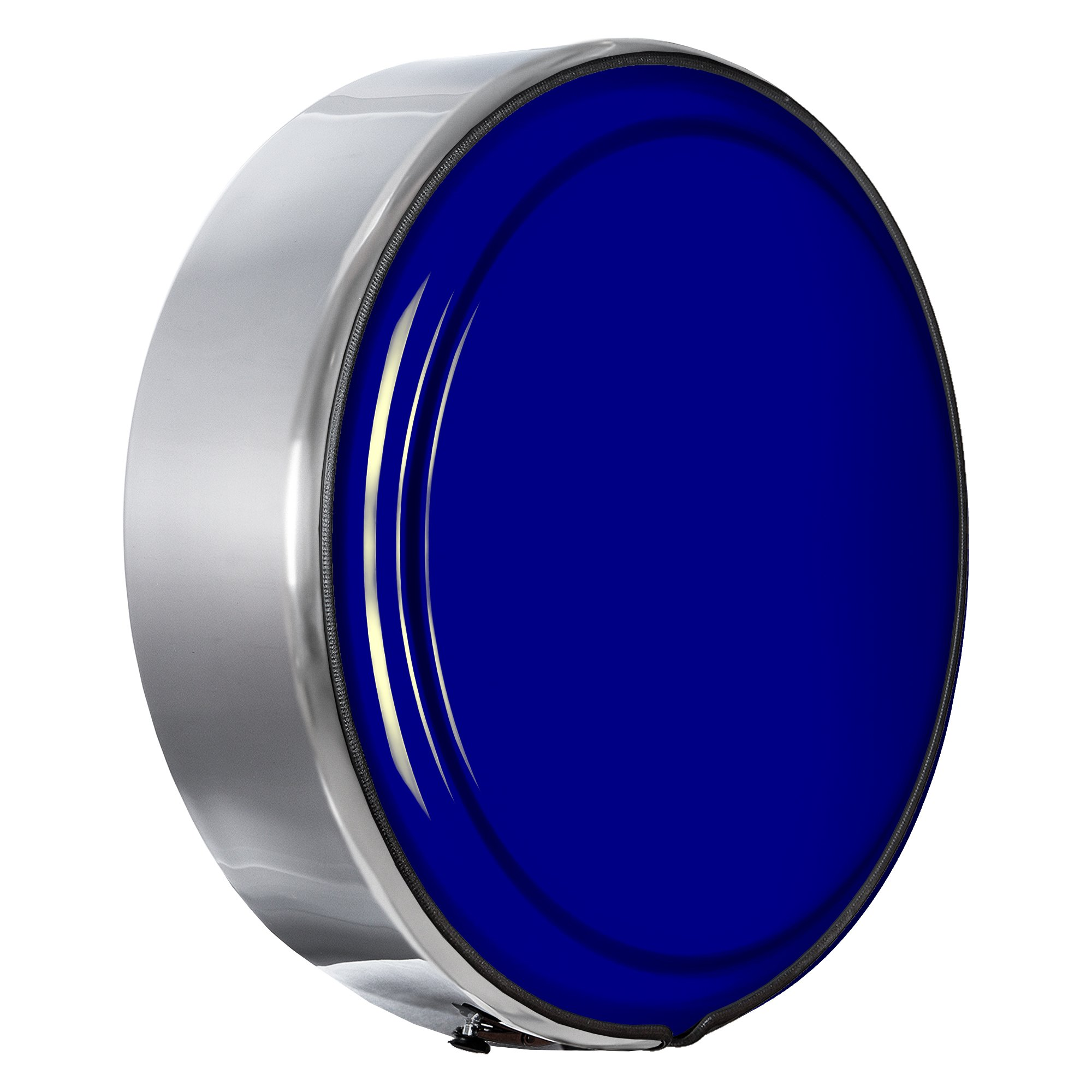 Hummer H3 - 33'' MasterSeries Hard Tire Cover - (Painted Plastic Face Plate with Polished Stainless Steel Ring) - 33'' All Terrain Blue