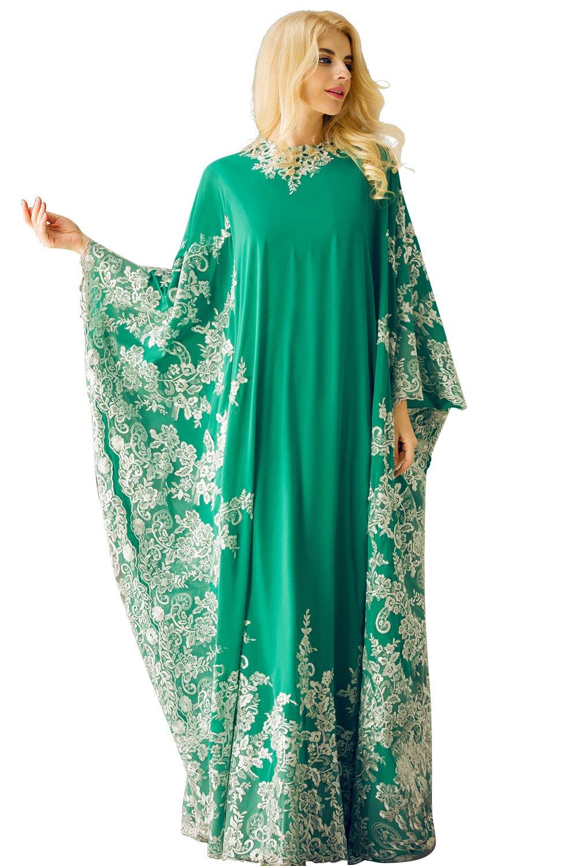 Amazon.com: Huifany Women\'s Elegant O-Neck Long Sleeve Applique ...