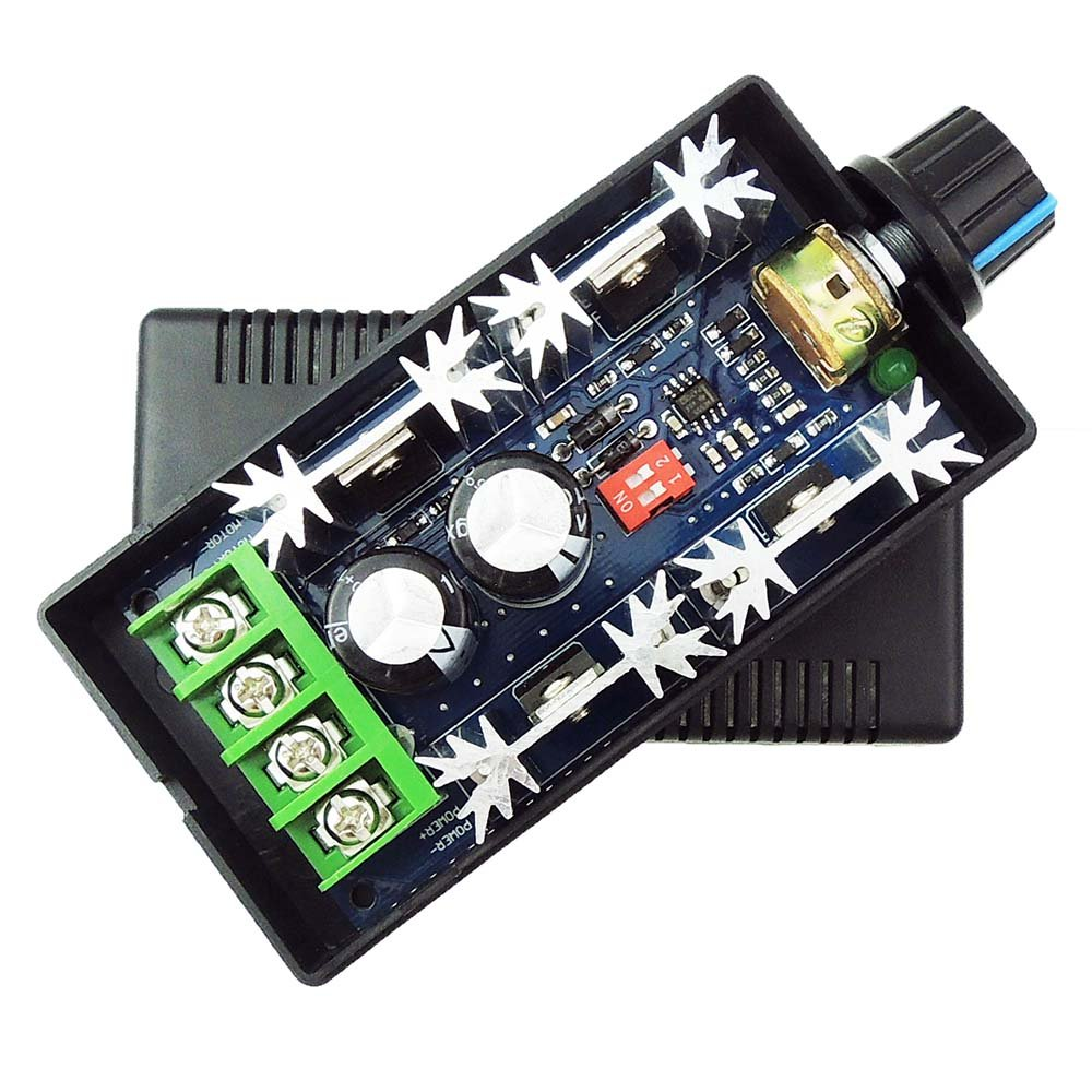 uniquegoods 12V 24V 36V 48V 40A (max) PWM DC Motor Speed Controller Adjustable Variable speed Switch CCM9N Regulator Driver
