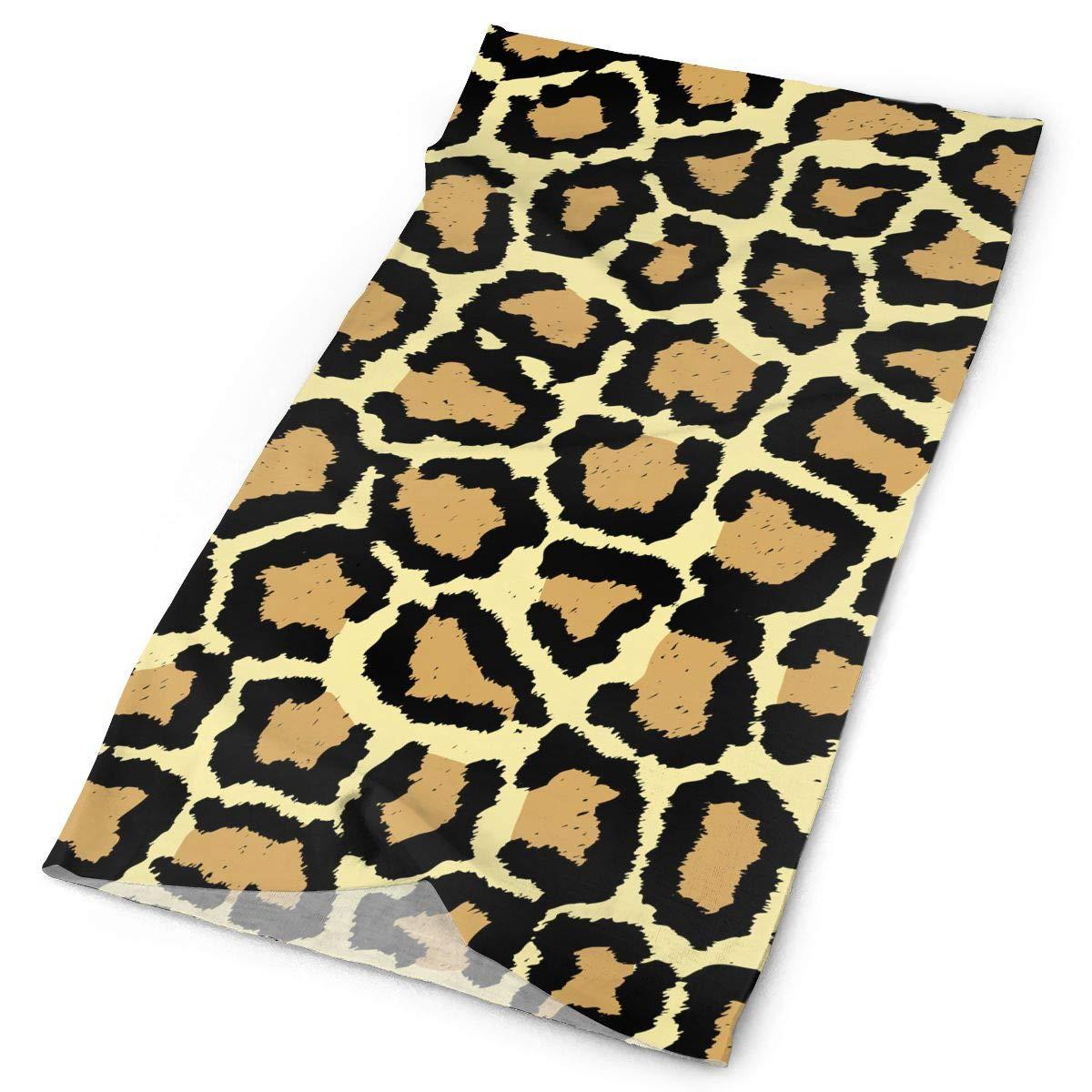 Owen Pullman Multifunctional Headwear Giraffe Print Yellow Head Wrap Elastic Turban Sport Headband Outdoor Sweatband