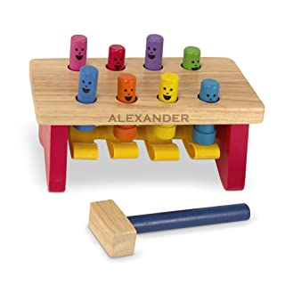 Melissa & Doug Personalized Deluxe Pounding Bench Wooden Toy with Mallet