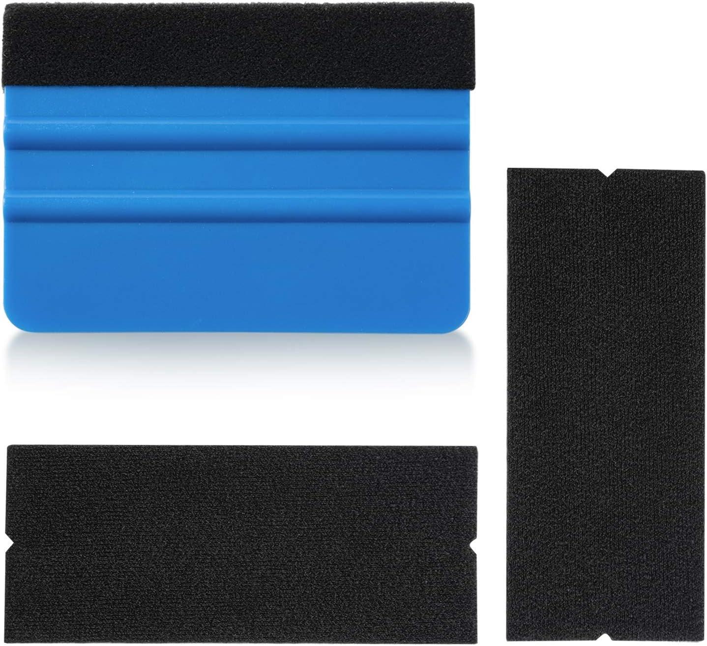 Tapete Craft Adhesive Vinyl Fenstert/önung Scrapbooking Vinylschaber Wrap Rakel Applikator Tool mit 2er Pack schwarzer Filzkante f/ür Auto Vinyl Wrap Peirich DIY Bastelwerkzeug Set Schriftzug