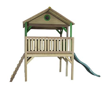 Axi casetta giochi per bambini baloo scala e scivolo in legno da