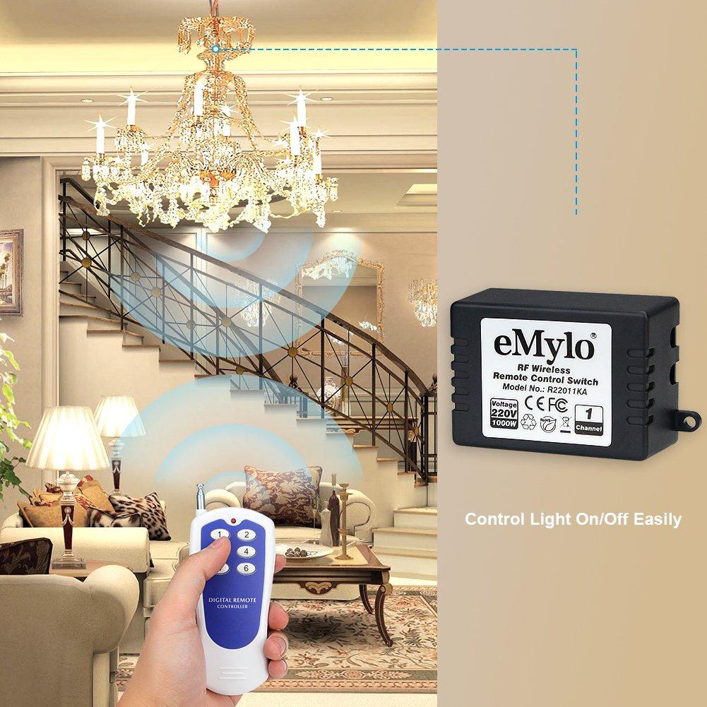 Schema Elettrico Emylo : Emylo ac v w canale rf remote control interruttore