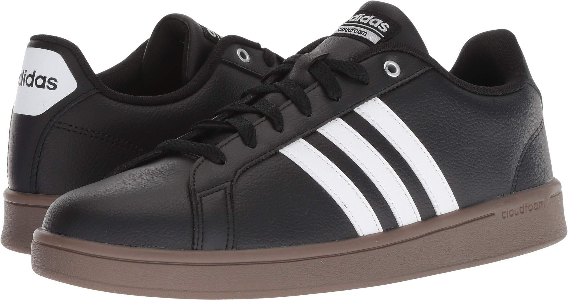 adidas  Men's Cloudfoam Advantage Core Black/Footwear White/Gum 14 D US