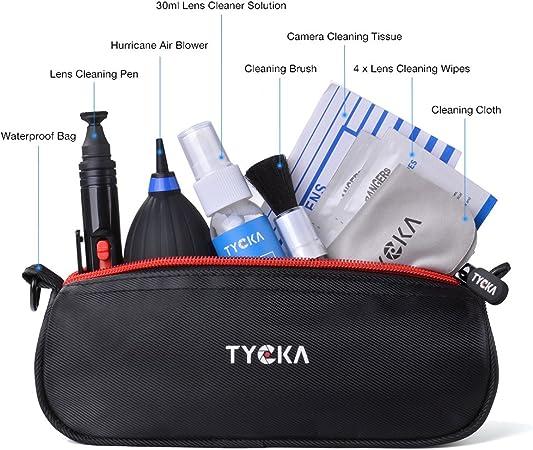 Telescopios y Binoculares ect Nikon con Bolso Resistente al Agua TYCKA Kit de Limpieza Profesional para c/ámaras r/éflex Digitales Canon Sony Pentax
