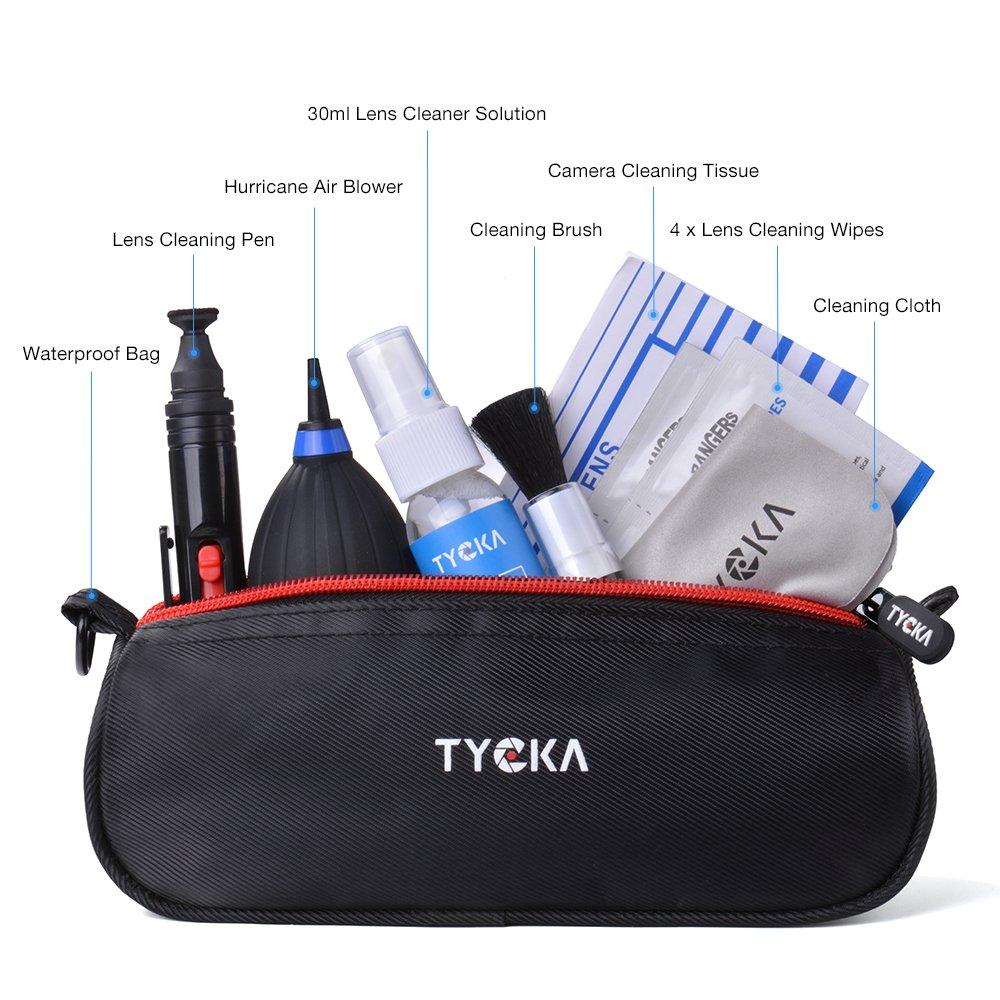 Pentax TYCKA Kit de Limpieza Profesional para c/ámaras r/éflex Digitales Canon Sony Telescopios y Binoculares ect Nikon con Bolso Resistente al Agua