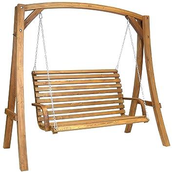 Balancelle de jardin 2-3 places - mobilier d\'extérieur - bois de ...