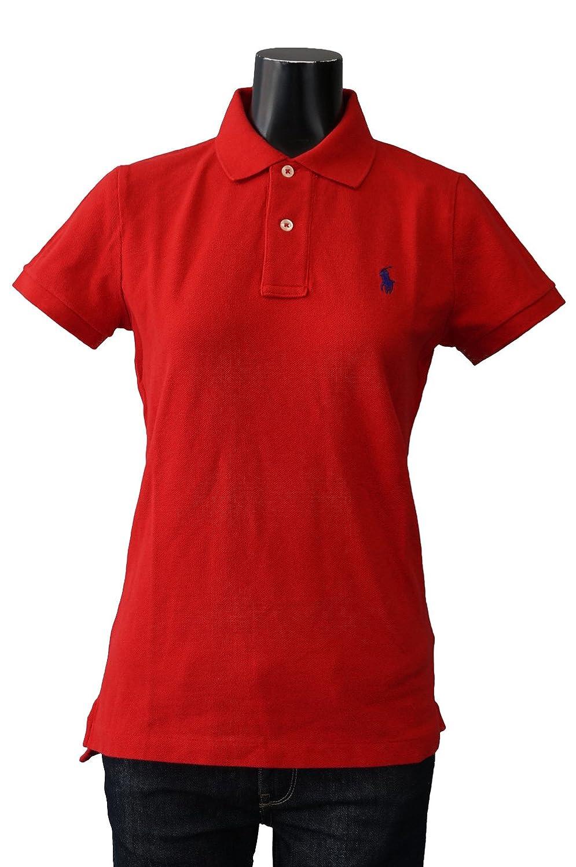(ポロ ラルフローレン) POLO Ralph Lauren ポロシャツ ポニー ワンポイント レディース [並行輸入品] B013FM08C4 CF-S|レッド×ダークネイビー レッド×ダークネイビー CF-S