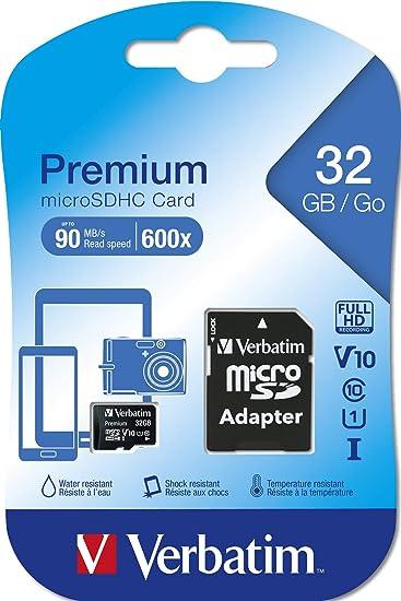 Verbatim Premium Microsdhc Speicherkarte 32 Gb Inkl Computer Zubehör