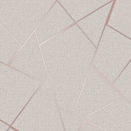 Fine Décor Fd42282 Quartz Fractal Wallpaper Rose Gold Amazoncouk