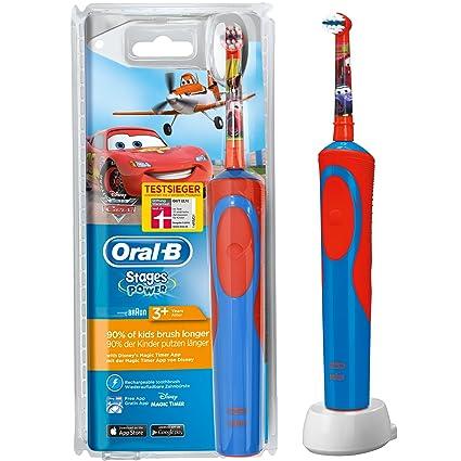 ORAL-B Stages – Cepillo de dientes infantil eléctrico a pilas, con temporizador,