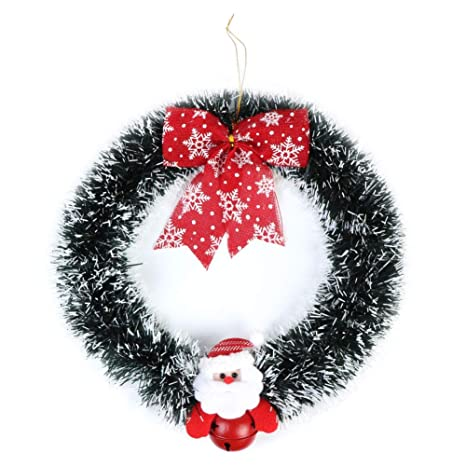 Small Christmas Wreaths.Aerwo Christmas Wreath Decoration 13inch Small Front Door Grapevine Wreaths For Windows And Kid S Room Decor