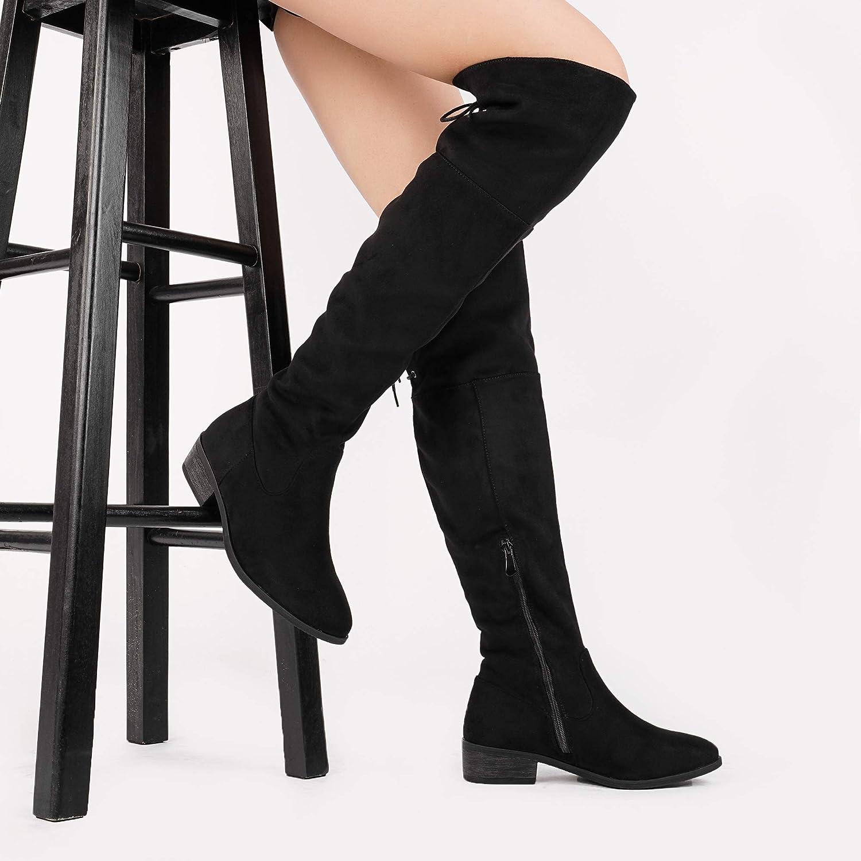 DREAM DREAM DREAM PAIRS Frauen-LEI Kniehohe Stiefel 11 B (M) US Damen Schwarz 11 M US bbe604