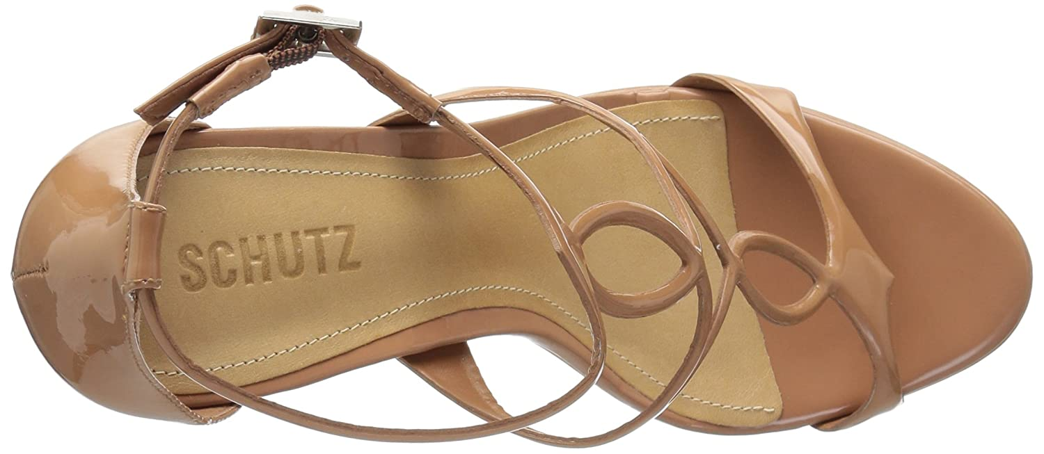 SCHUTZ Women's Sevil Wedge Sandal B0721876JW 7.5 M US|Toasted Nut