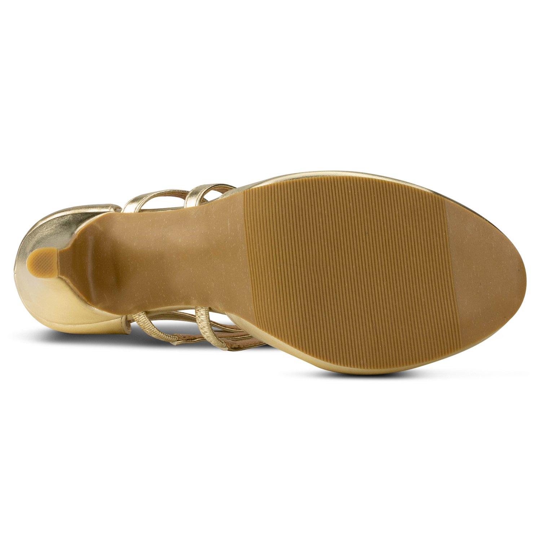 RF ROOM OF FASHION Coco-01 Women's Vegan D'Orsay Mary Jane T-Strap Mid Heel Dress Platform Pumps Shoes B06Y3YR8TV 11 B(M) US|Light Gold Vegan Leather