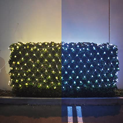 Christmas Bush Lights.Alion Home Net Mesh 2 In 1 Dual Color 256 Count Led Bush Wrap Lights With 9 Functions Controller 16 Ft W 3 Ft H 1 Cool White Warm White