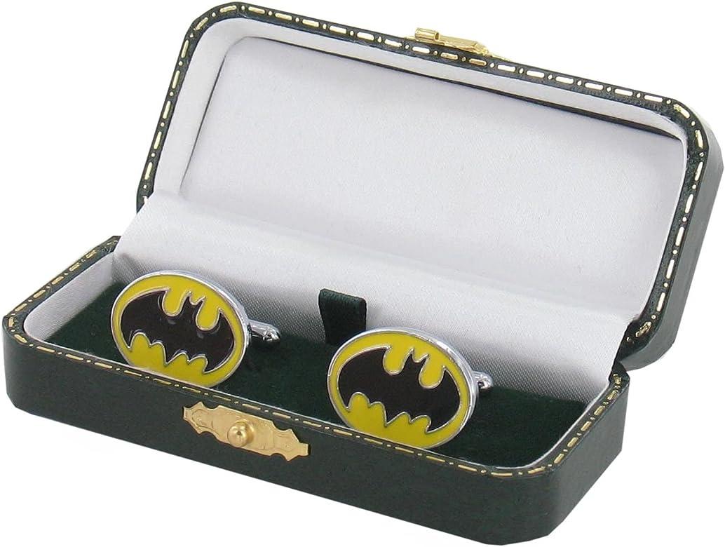 Diseño de Batman Gemelos - diseño de Ruleta de en verde o cama de matrimonio de cuero sintético en estilo antiguo - Batman regalo: Amazon.es: Joyería