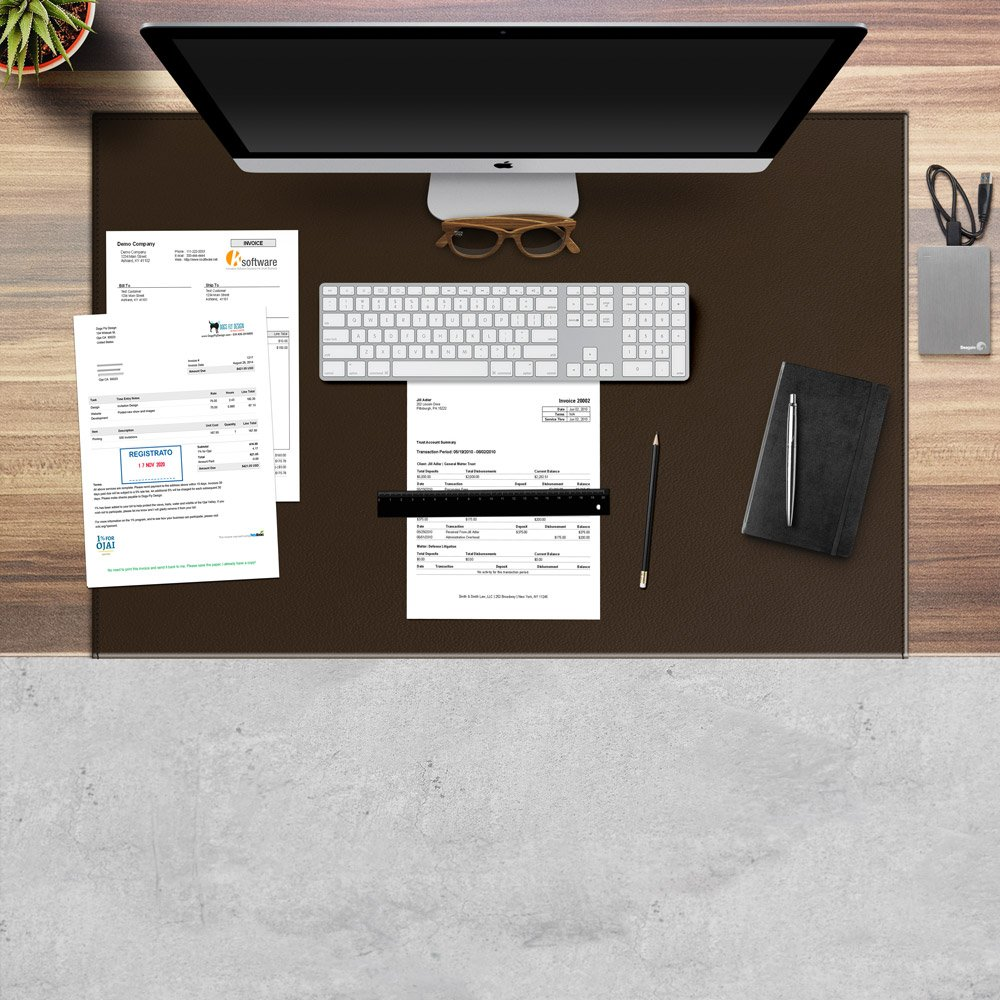 Tailored Seams Office Desk Pad made of Dark Brown Leather Made in Italy cm 70x50 Non-Slip Desk blotter with core made of Steel Eglooh Calliope