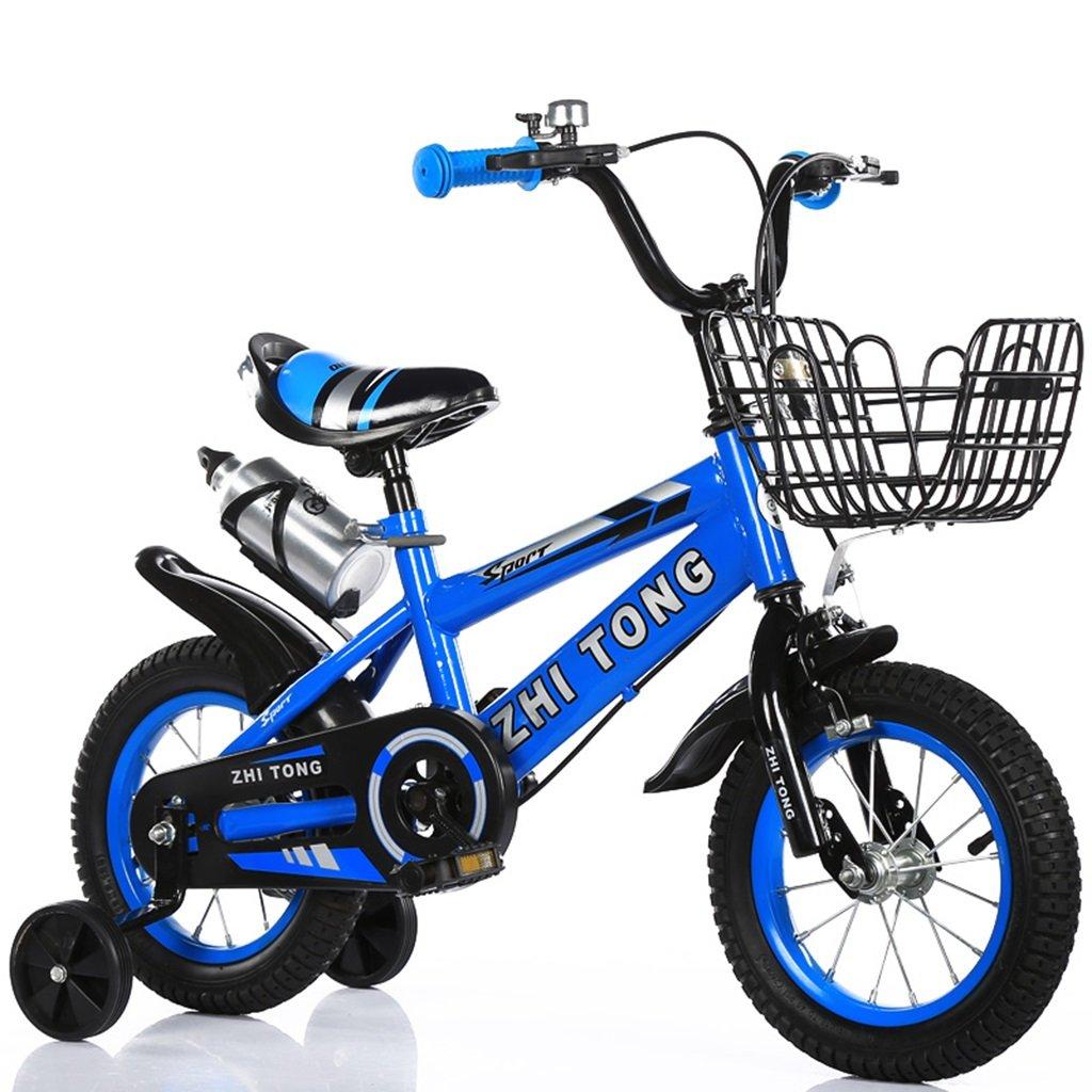 子供用自転車、男の子、女の子用に適しています高炭素鋼滑り止めタイヤ強力な安全性2-10歳88-121CM (色 : 青, サイズ さいず : 100CM) B07CWDNZBX 100CM 青 青 100CM