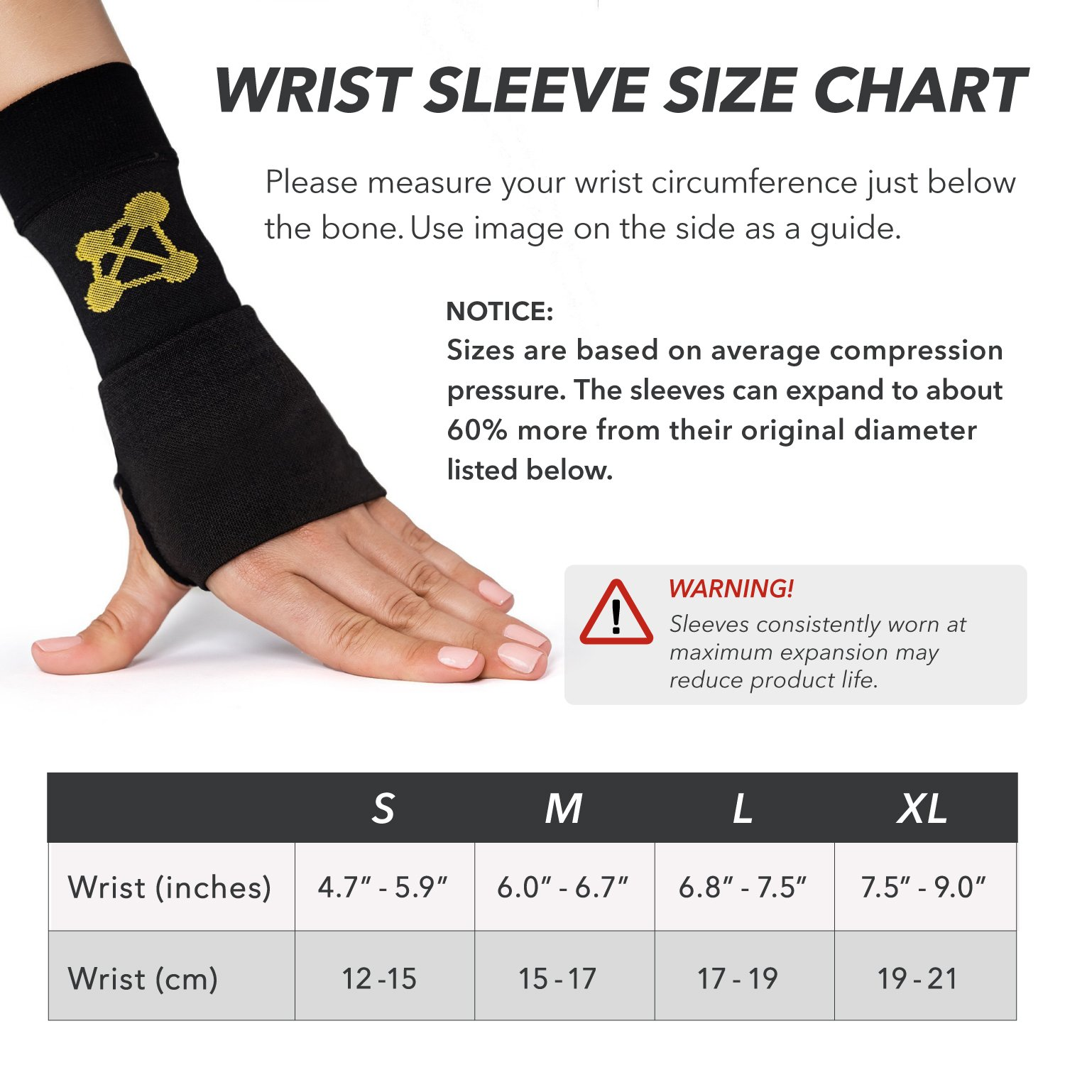 CopperJoint Copper-Infused Compression Wrist Sleeve, High-Performance Design Promotes Improved Circulation to Help Reduce Inflammation and Pain, Single Sleeve (Right, Small) by CopperJoint (Image #4)
