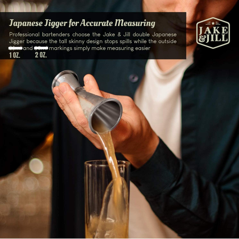 Coctelera Modern Barware Tools Bartender Mixology Accessories Mixed Drink Japanese Jigger /& 500 Recipes Boston Cocktail Shaker Set w//HD Strainer Stainless Steel Margarita /& Martini Mixer Kit