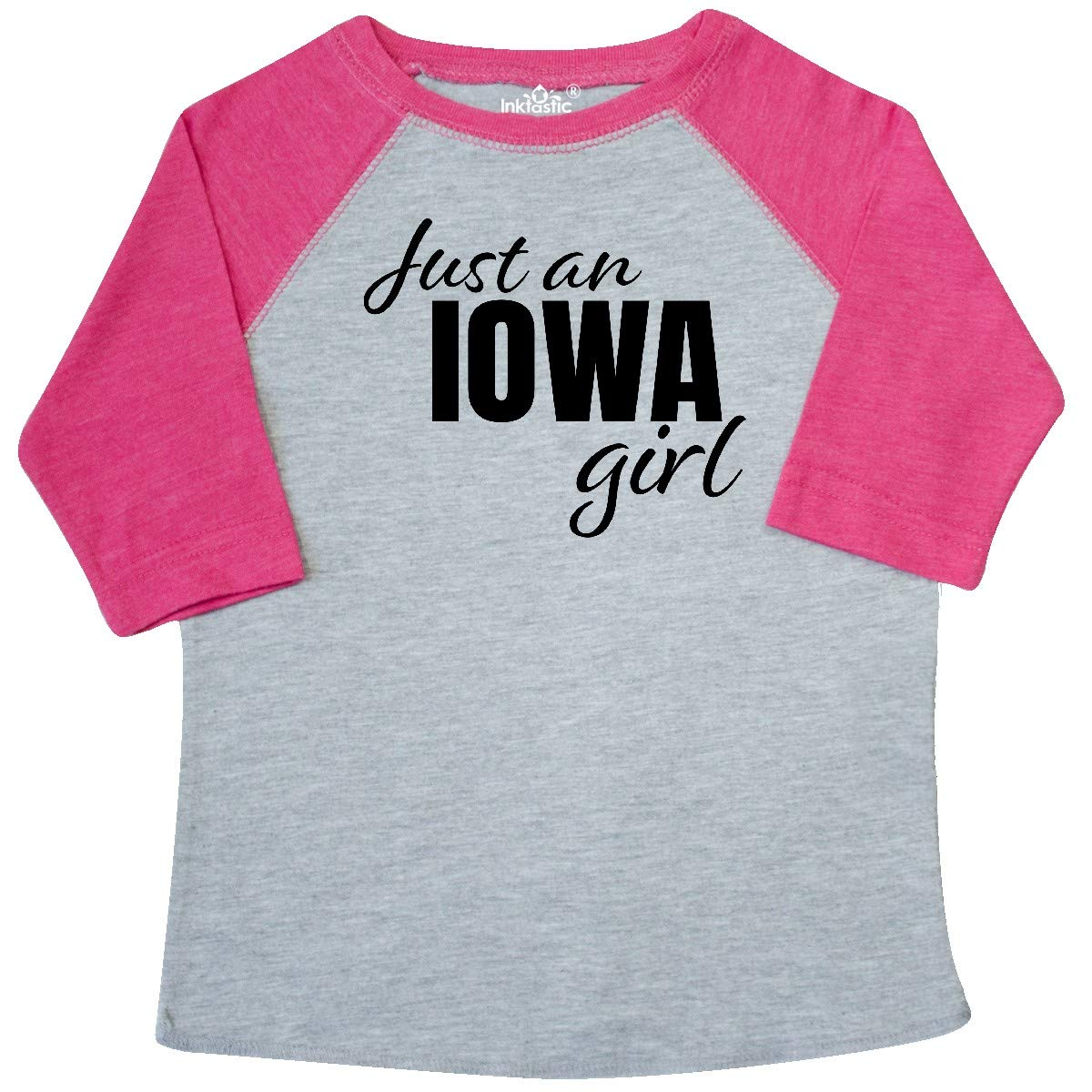 inktastic Just an Iowa Girl Born and Raised Toddler T-Shirt