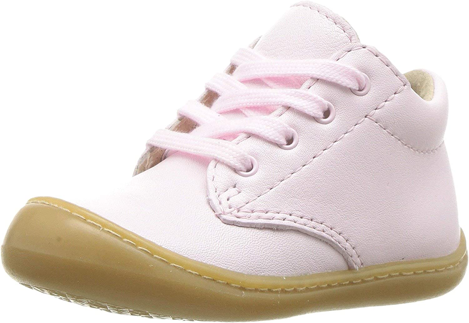 FOOTMATES Reagan Soft Laceup First Walker Rose Nappa 5003
